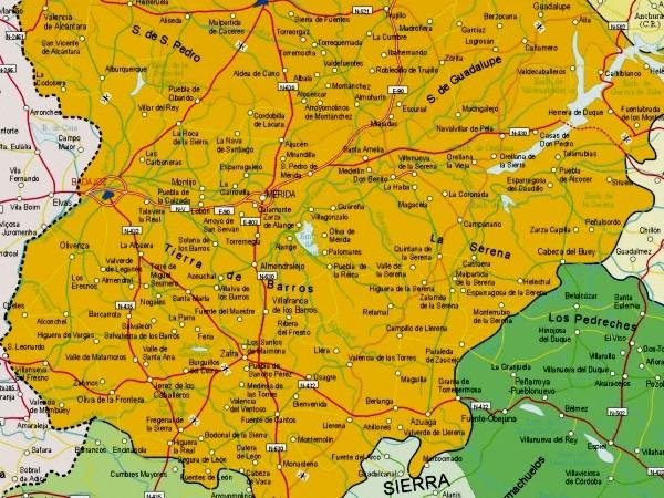 Mapa grande de Badajoz