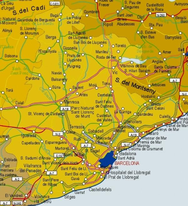 Mapa grande de Barcelona