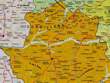 Mapa pequeño de Cáceres