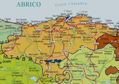 Mapa pequeño de Cantabria