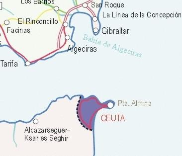 Mapa grande de Ceuta