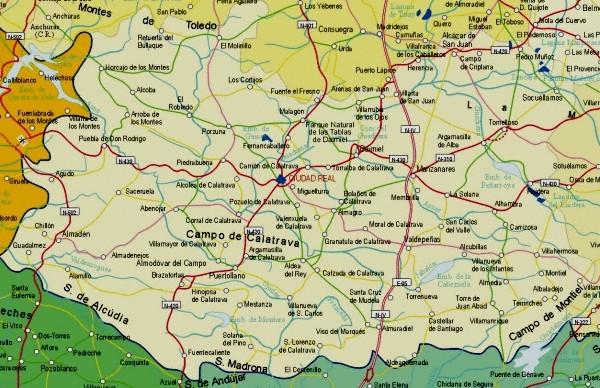 Mapa grande de Ciudad Real