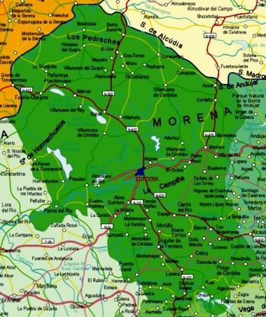 Mapa pequeño de Córdoba