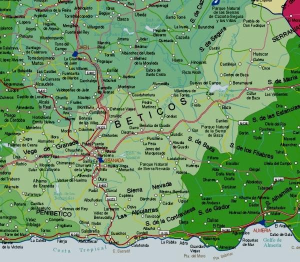 Mapa grande de Granada