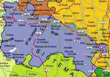 Mapa pequeño de La Rioja