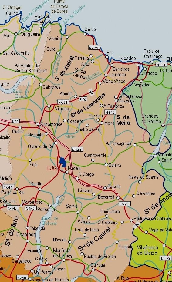 Mapa grande de Lugo