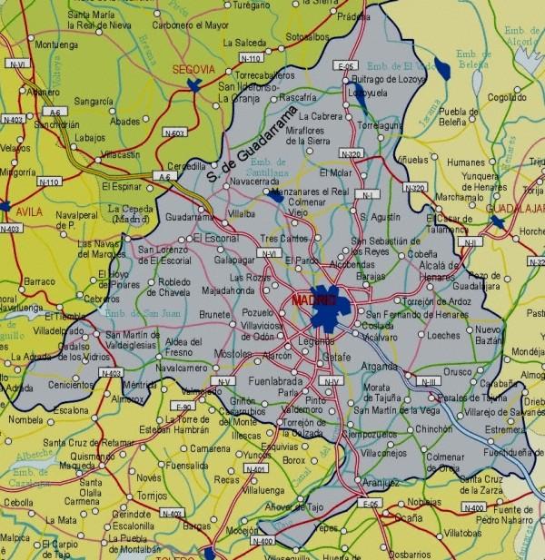 Mapa grande de Madrid