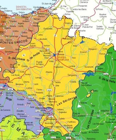 Mapa pequeño de Navarra
