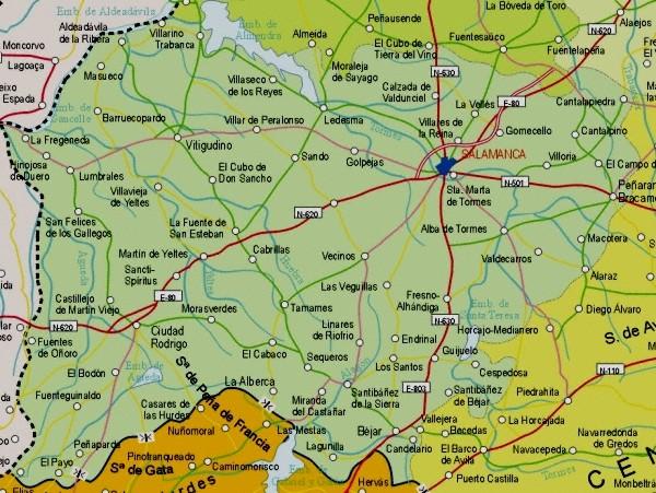 Mapa grande de Salamanca
