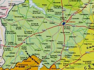 Mapa pequeño de Salamanca