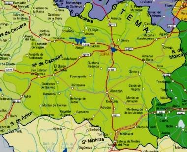 Mapa pequeño de Soria