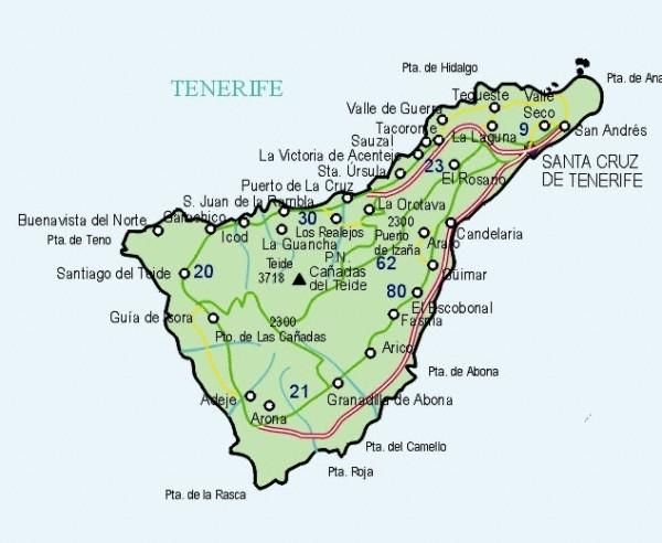 Mapa grande de Santa Cruz De Tenerife