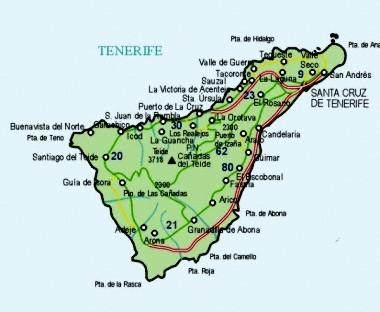 Mapa pequeño de Santa Cruz De Tenerife