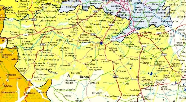 Mapa grande de Toledo