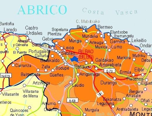 Mapa grande de Vizcaya