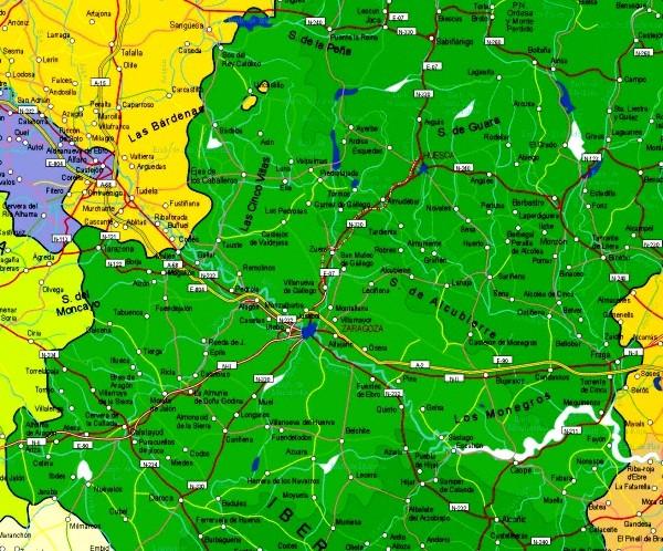 Mapa grande de Zaragoza